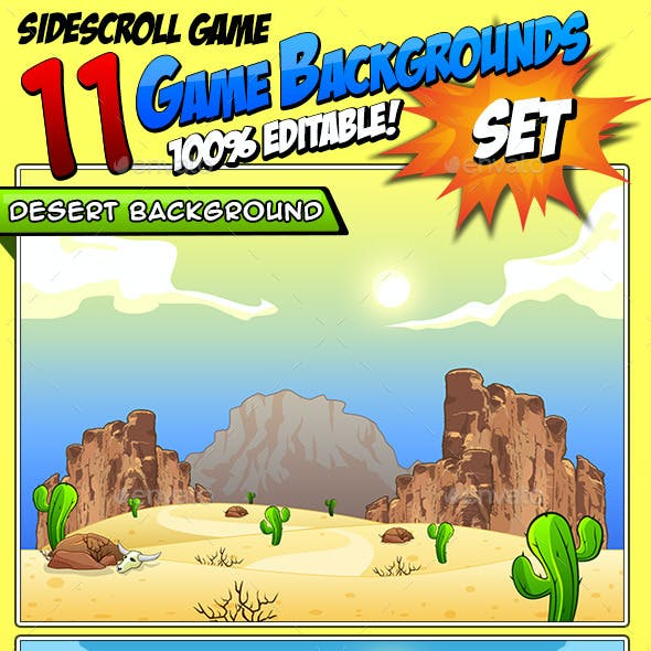 11 Set's - Game Backgrounds