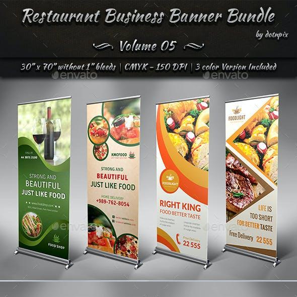 Restaurant Business Banner Bundle | Volume 5