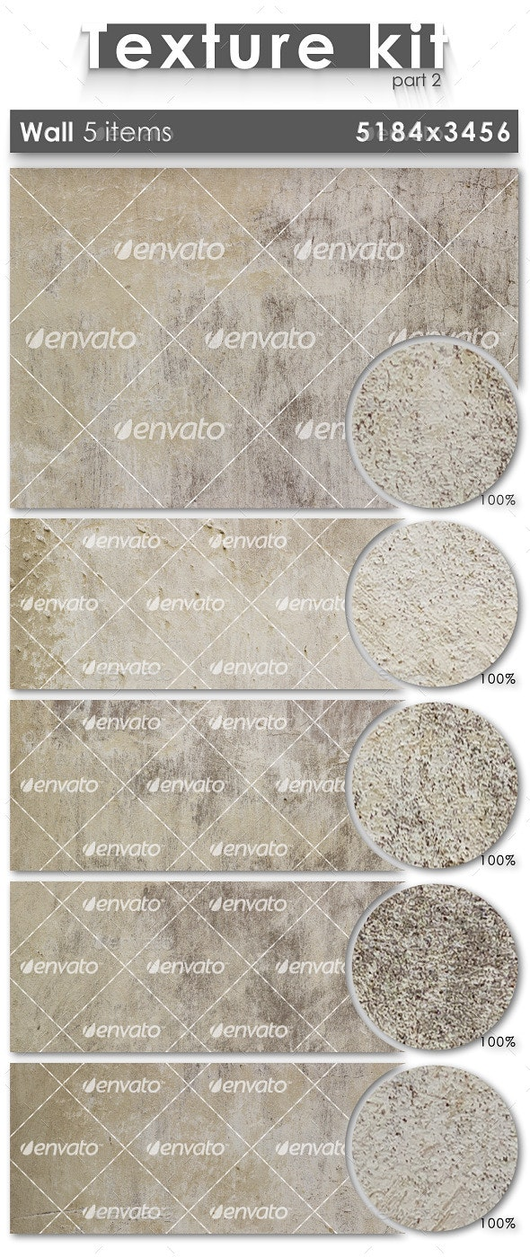 Texture Kit 2 - Wall (5 Items) - Industrial / Grunge Textures
