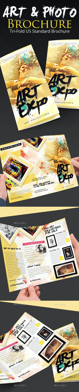 Art Show/Expo Trifold Brochure - Brochures Print Templates