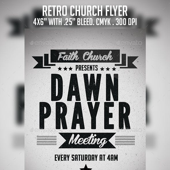 Retro Church Flyer
