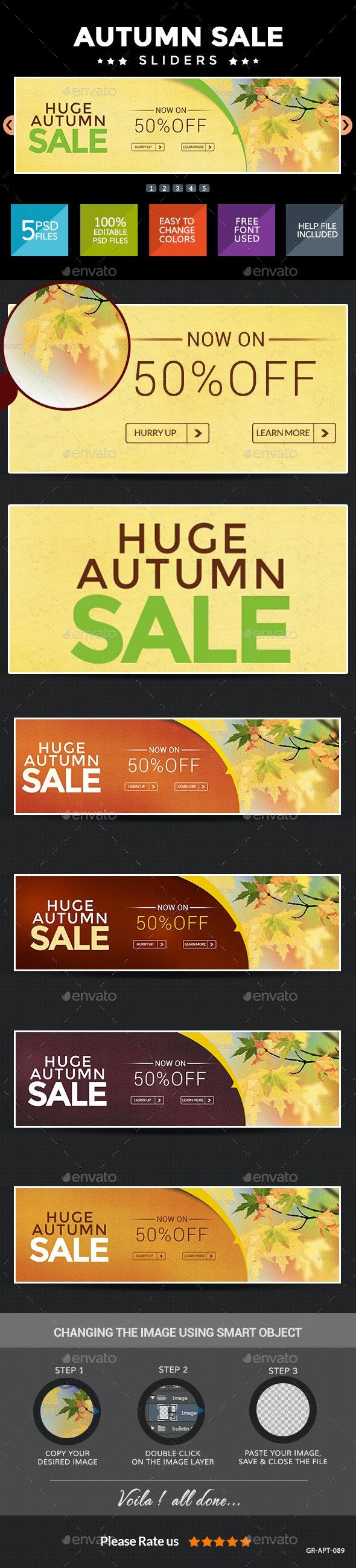 Autumn Sale Sliders - Sliders & Features Web Elements
