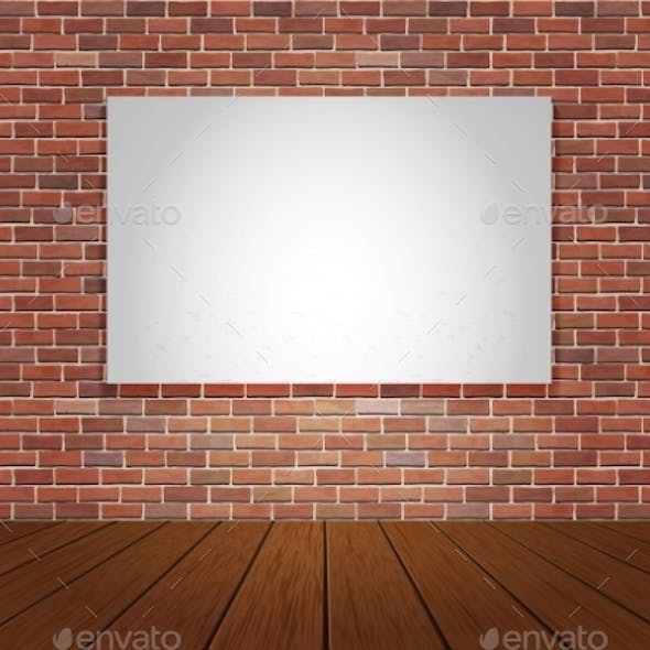 Brick Wall and Wood Floor Background