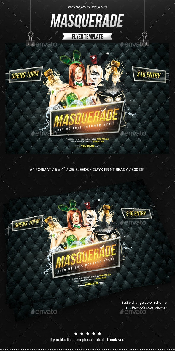 Masquerade - Flyer - Clubs & Parties Events