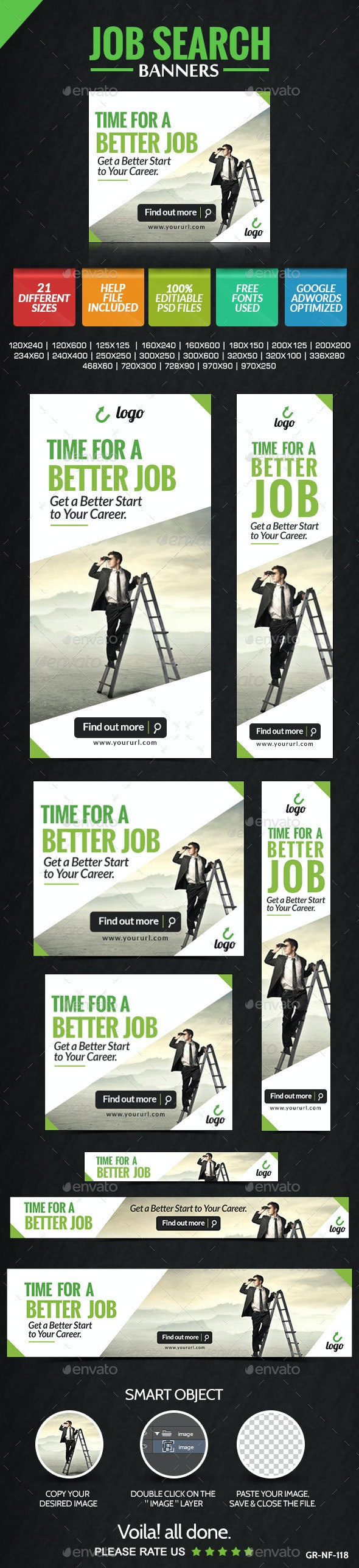 Job Search Banners - Banners & Ads Web Elements