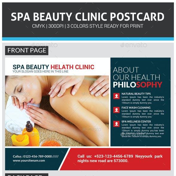 Spa Wellness Center Postcard Template