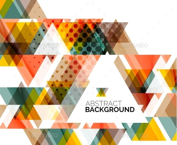 Triangle Geometric Abstract Background - Backgrounds Business