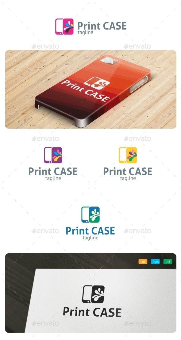 Print Case Logo - Objects Logo Templates