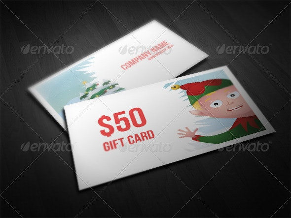 Christmas Elf Gift Card - Industry Specific Business Cards