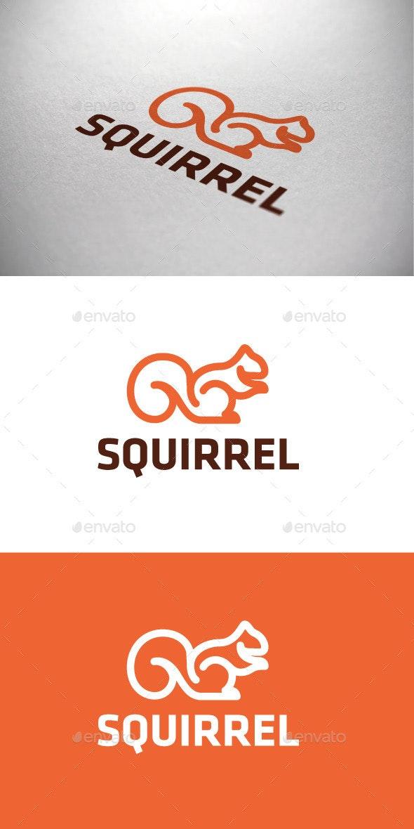 Squirrel Logotype - Animals Logo Templates