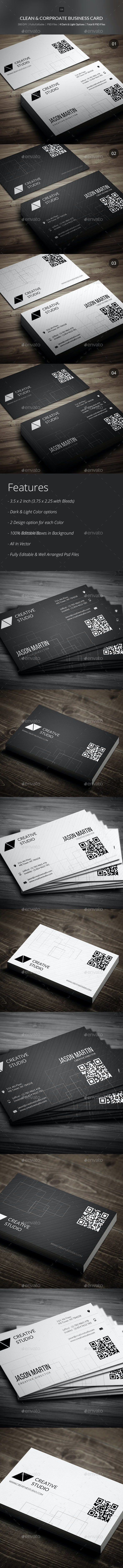 Clean & Corporate Business Cards - 04 - Corporate Business Cards