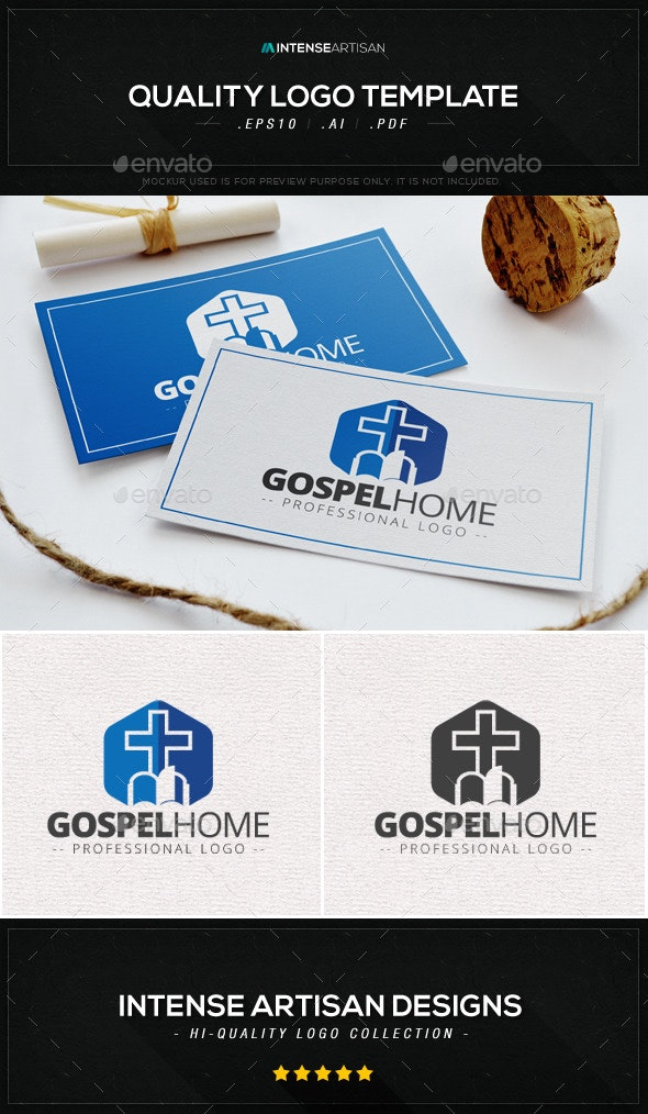Gospel Home Logo Template - Symbols Logo Templates