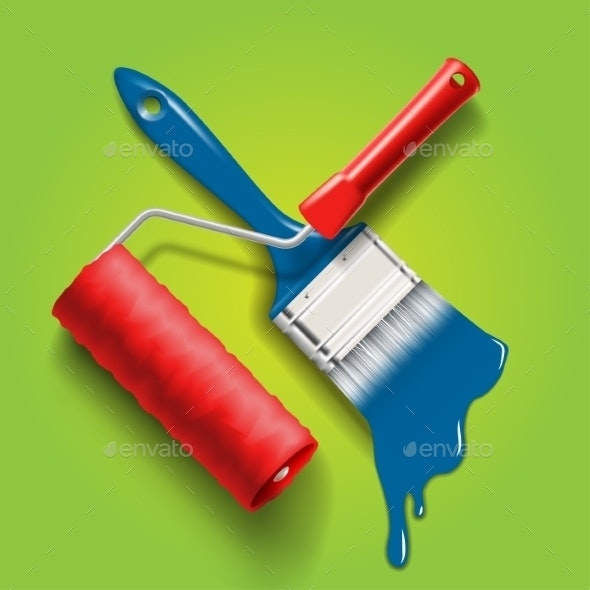 Paint Brush and Roller - Services Commercial / Shopping