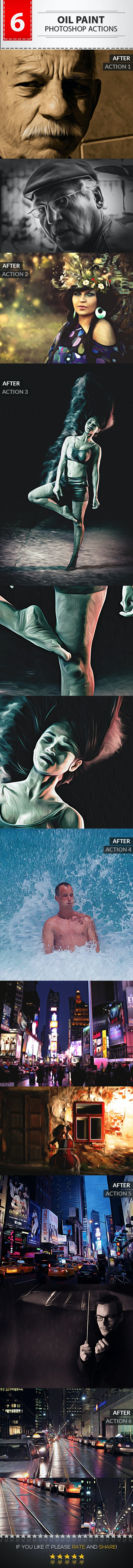Oil Painting Photo Actions - Photo Effects Actions