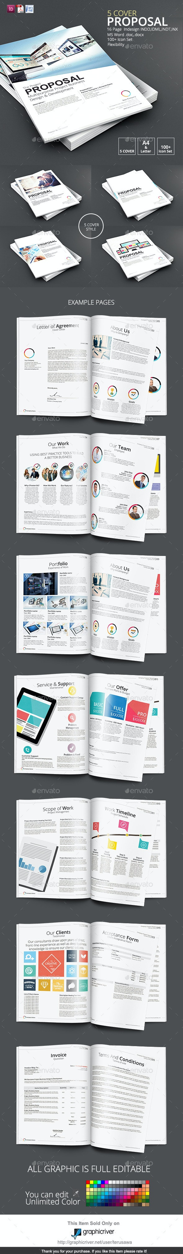 5 Cover Proposal Template - Proposals & Invoices Stationery
