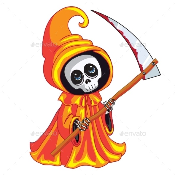 Death with a Scythe in His Hands - Halloween Seasons/Holidays