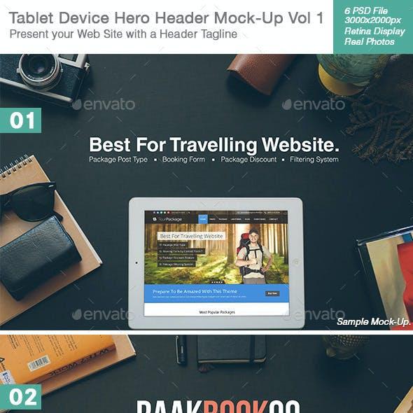 v2 Tablet / Pad Device Hero Header Mock-Up