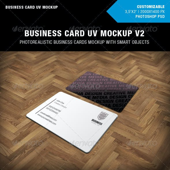Business Cards UV Mockup v2