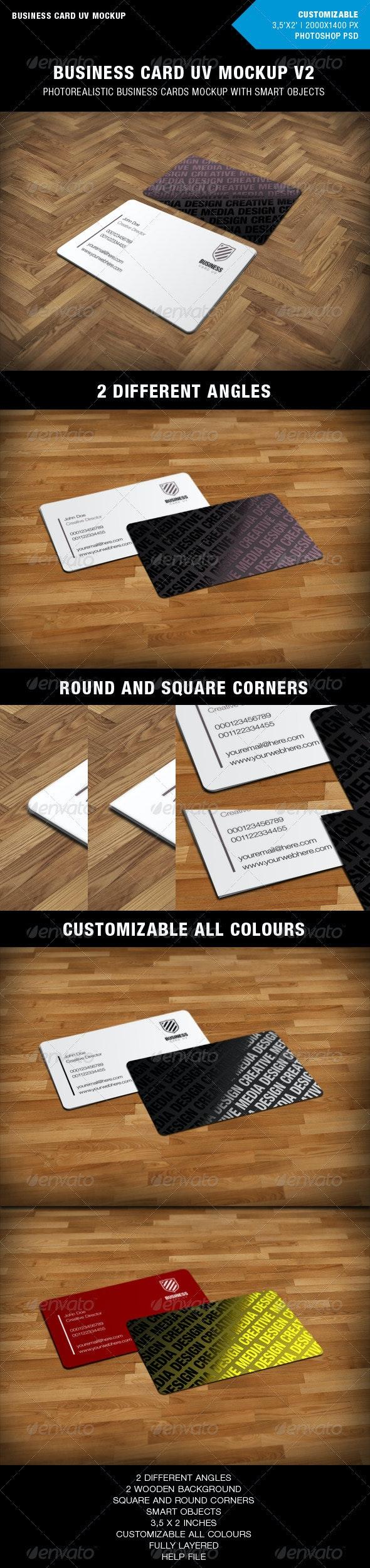 Business Cards UV Mockup v2 - Business Cards Print