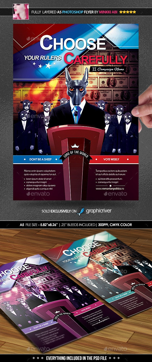 Election Awareness Poster/Flyer - Flyers Print Templates