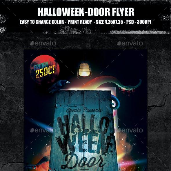 Halloween Door Party Flyer