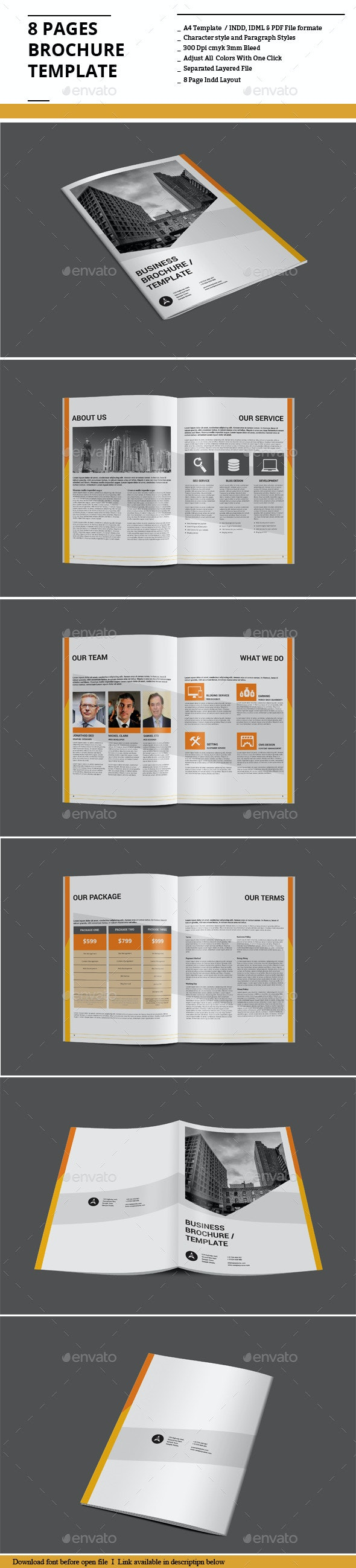 8 Pages Brochure Template - Corporate Brochures