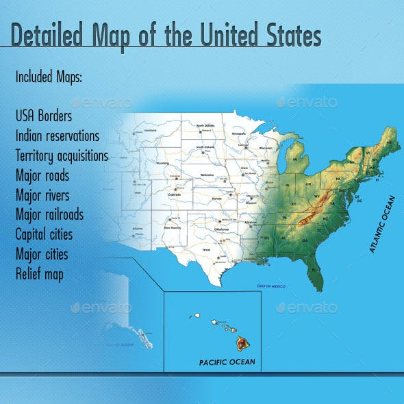 Detailed Map of the United States