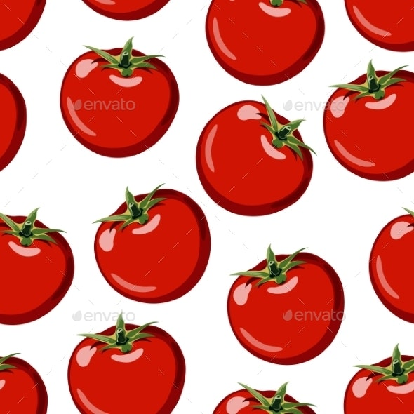 Red Ripe Tomato - Patterns Decorative