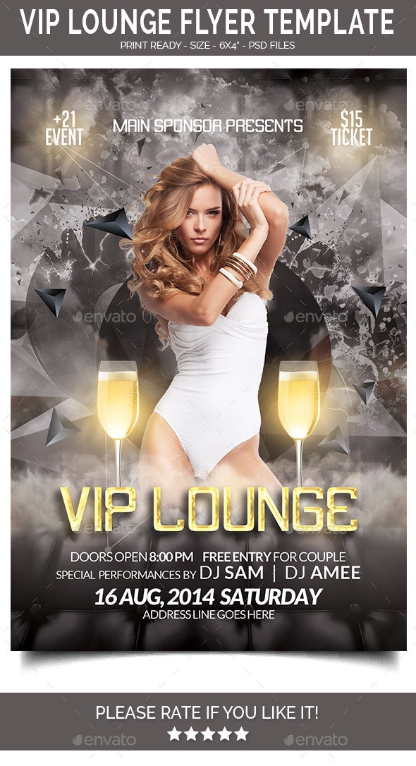 Vip Lounge Flyer - Clubs & Parties Events