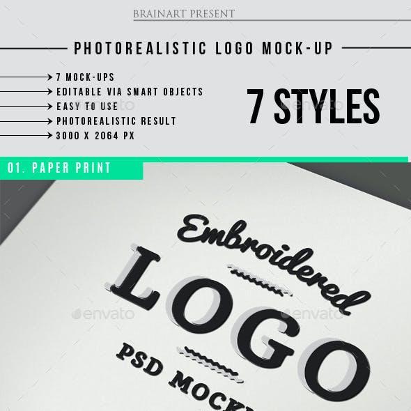 Photorealistic Logo MockUps V2