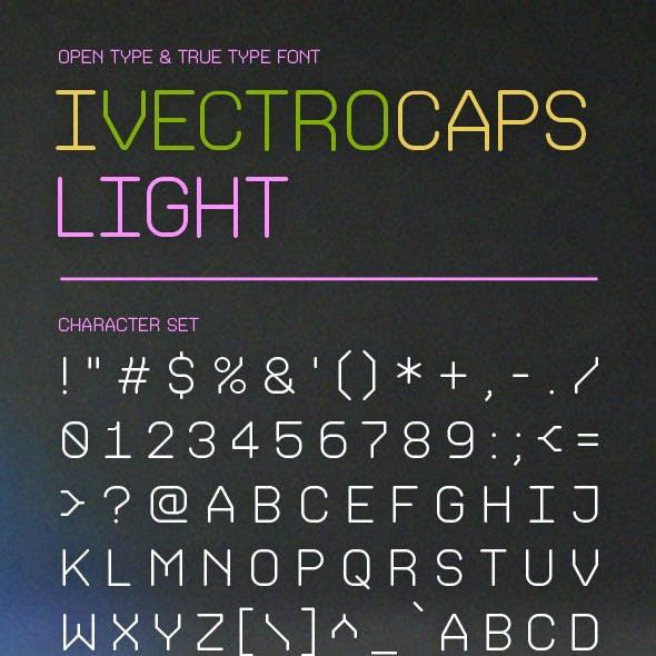 iVectroCaps Light Font