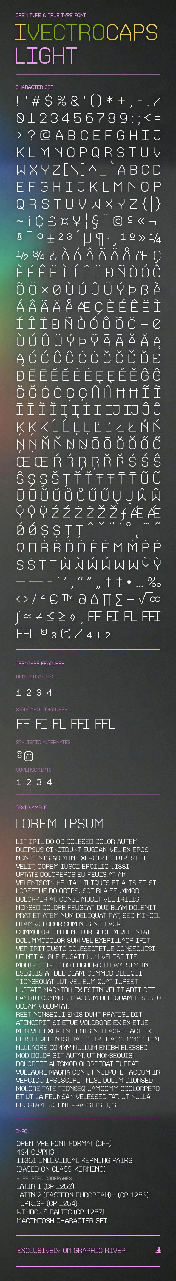 iVectroCaps Light Font - Miscellaneous Sans-Serif