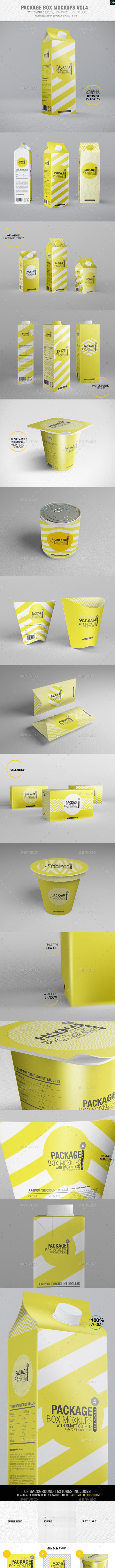 Package Box Mockups Vol4 - Packaging Product Mock-Ups