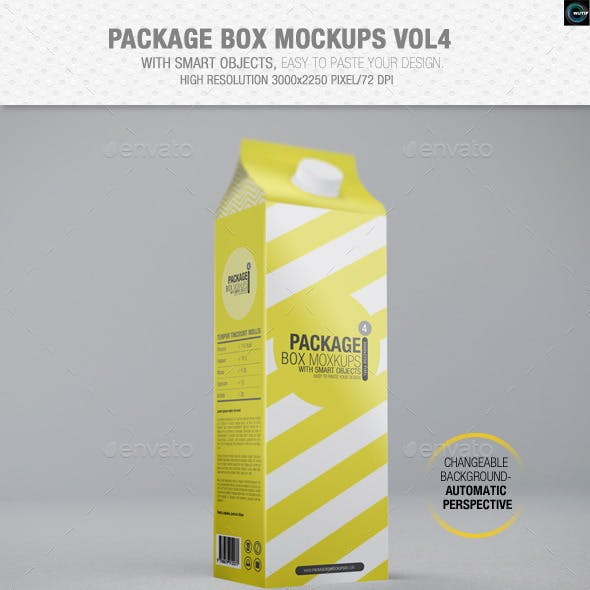 Package Box Mockups Vol4