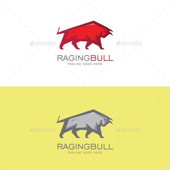Raging Bull Logo Mascot