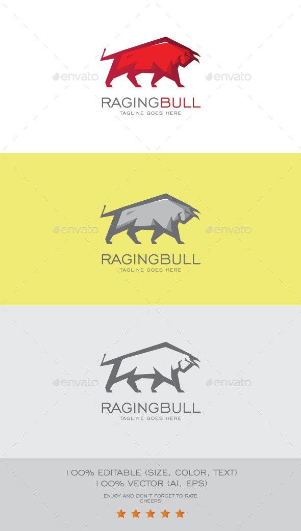 Raging Bull Logo Mascot - Animals Logo Templates