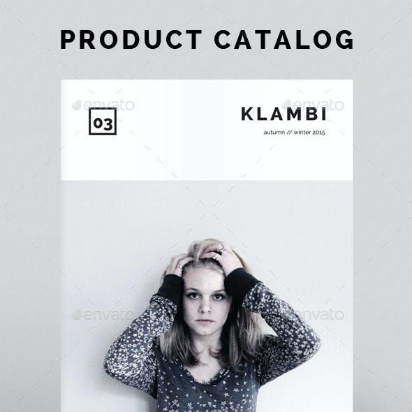 Product Catalog Klambi Template
