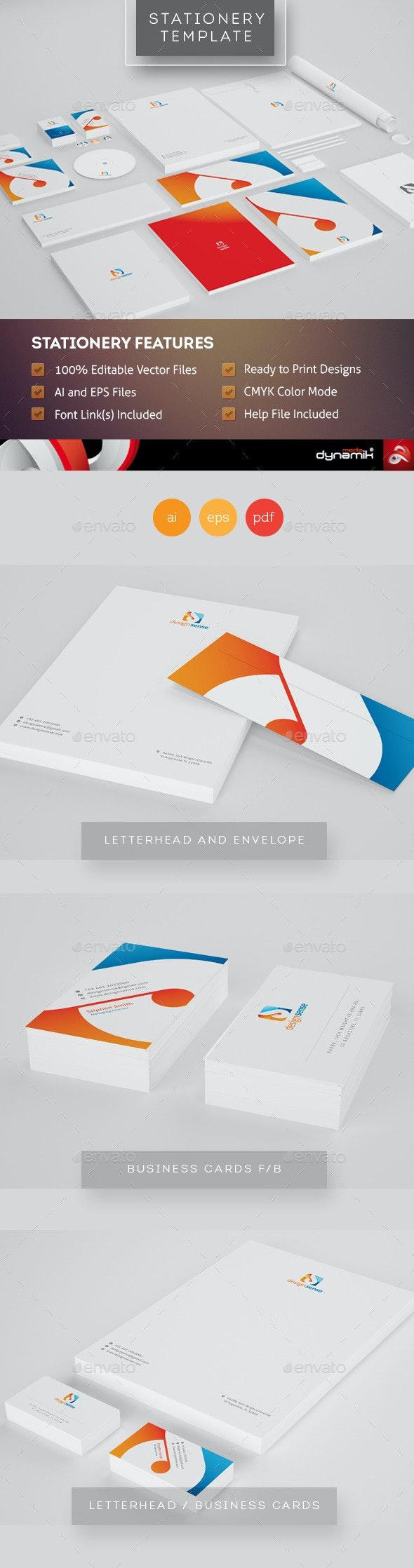 Design Sense - Corporate Identity Template - Stationery Print Templates