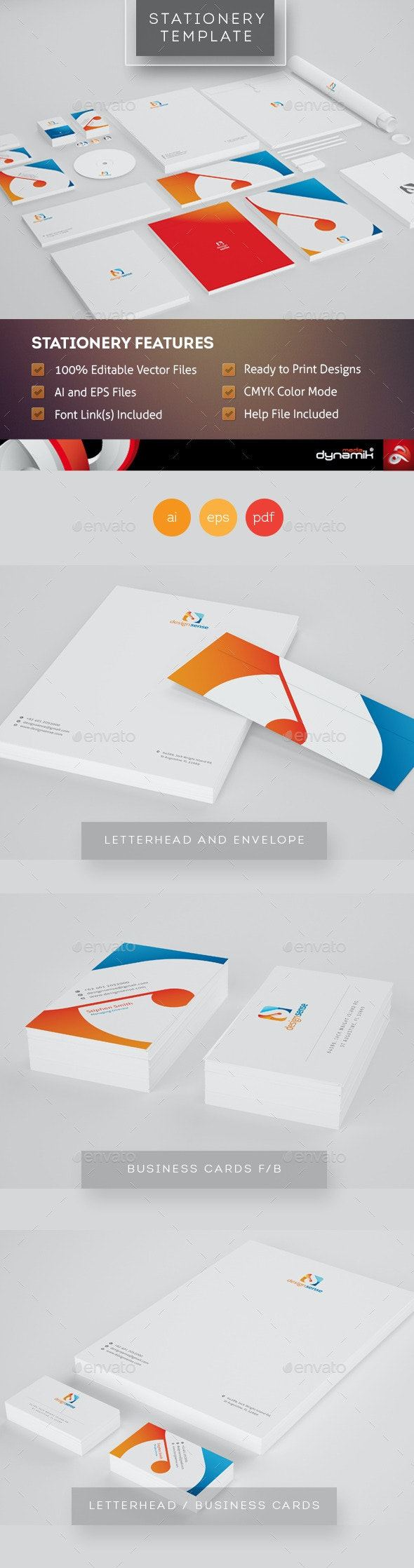 Design Sense - Corporate Identity Template - Stationery Print Templates