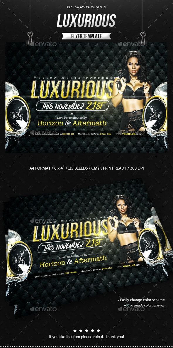 Luxurious - Flyer - Clubs & Parties Events