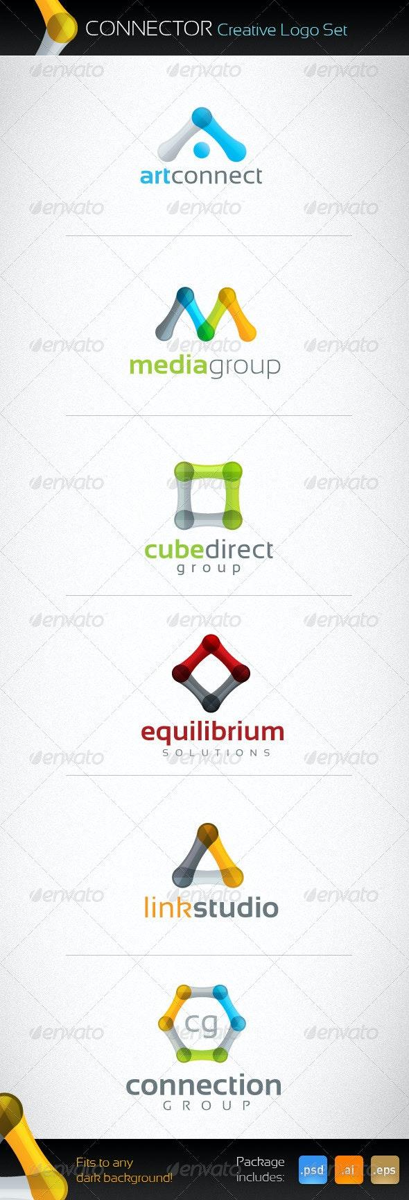 Connector Creative Logo Set - Abstract Logo Templates