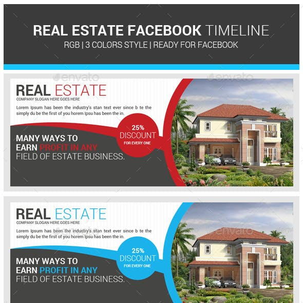 Real Estate Facebook Timeline Psd