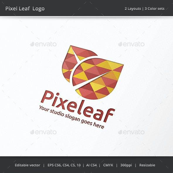 Pixel Leaf Logo
