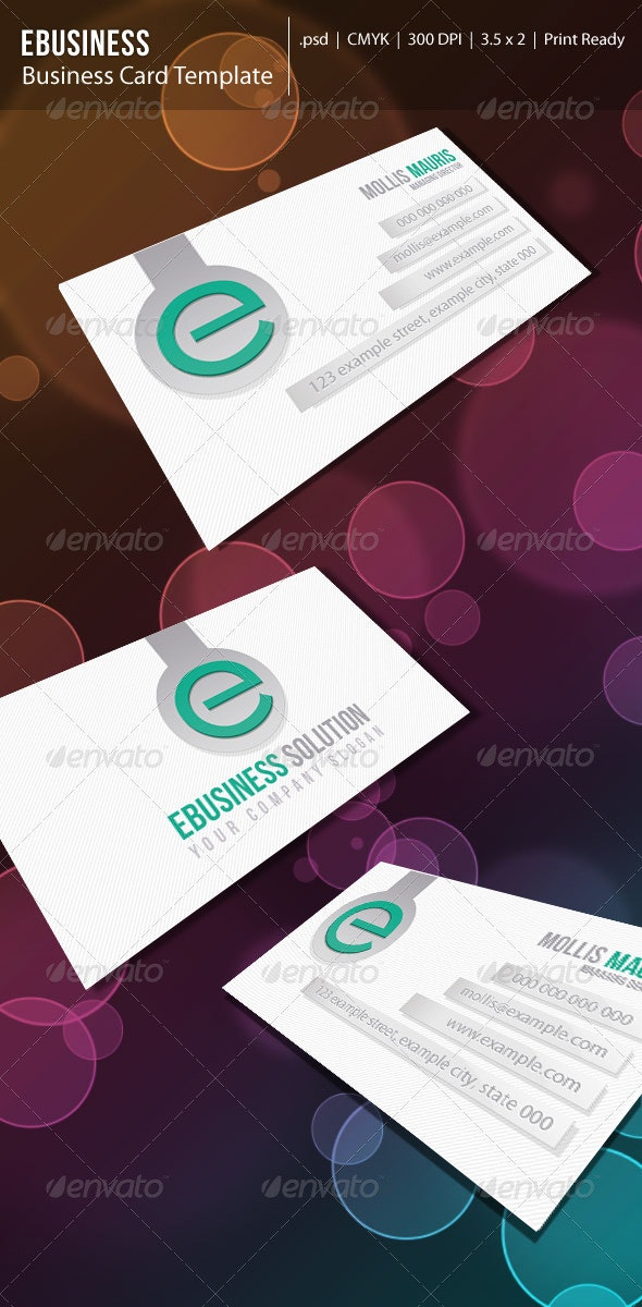 Clean Ebusiness Card: - Corporate Business Cards