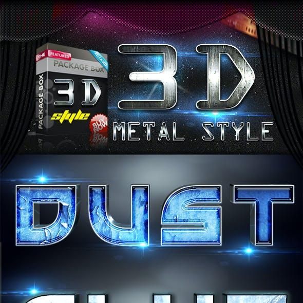 3D Metal Text Effect