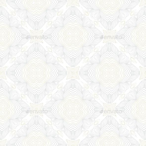 White Vintage Geometric Texture in Art Deco Style - Patterns Decorative