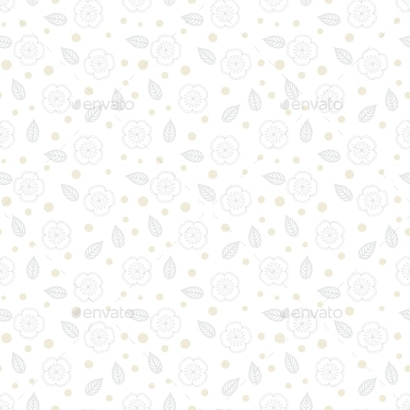 White Floral Texture with Small Ditsy Flowers - Patterns Decorative