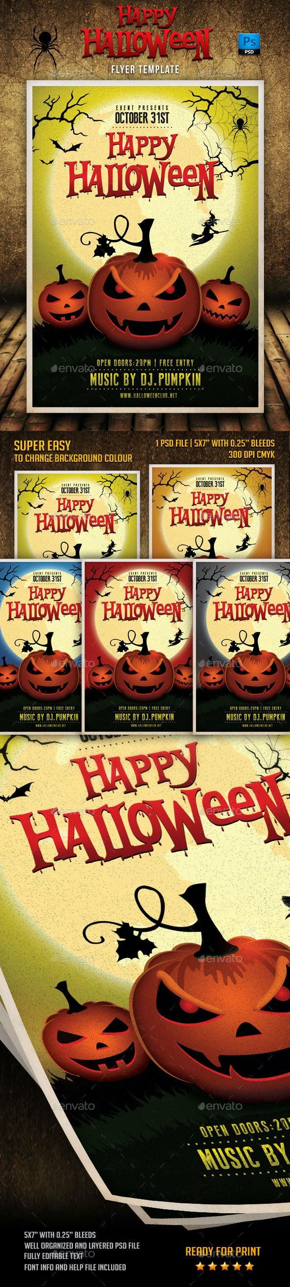 Happy Halloween Flyer Template - Events Flyers