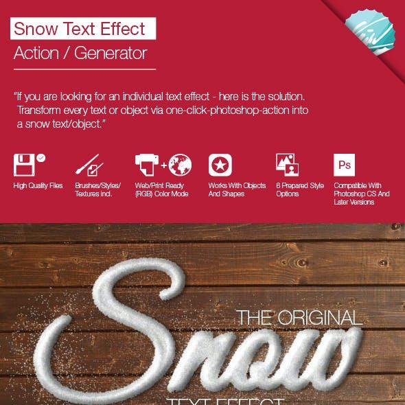Snow Text Effect / Generator