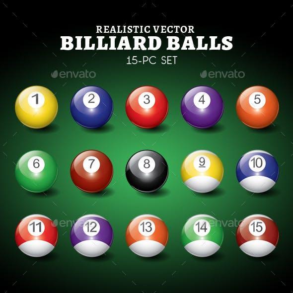 Realistic Vector Billiard Ball Set